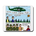 Helicopter - Tent - Drill Team Mousepad