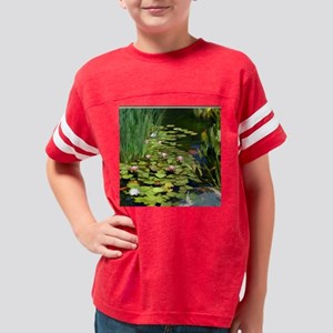 Koi Pond and Water Lilies cop Youth Football Shirt