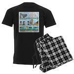 PA System - Camel - Fish Men's Dark Pajamas