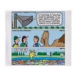 PA System - Camel - Fish Throw Blanket