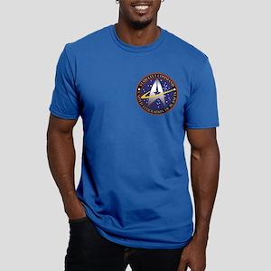 Starfleet Command log Men's Fitted T-Shirt (dark)