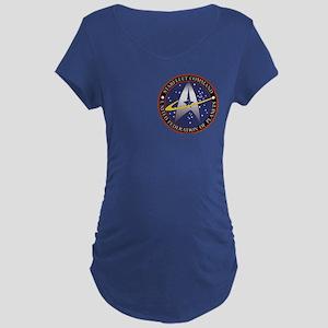 Starfleet Command logo Maternity Dark T-Shirt