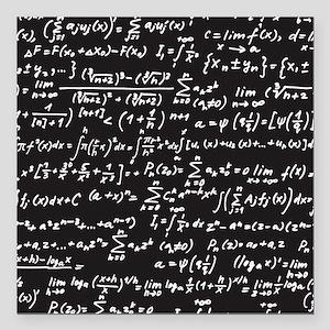 "Chalk/Blackboard Square Car Magnet 3"" x 3"""
