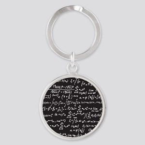 Chalk/Blackboard Round Keychain