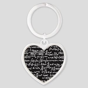 Chalk/Blackboard Heart Keychain