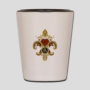 Monogram A Fleur de lis 2 Shot Glass
