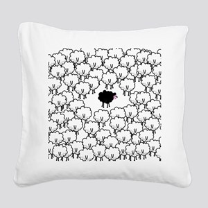 Black Sheep Square Canvas Pillow