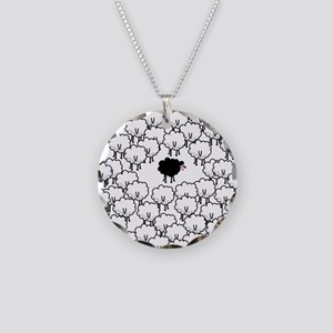 Black Sheep Necklace Circle Charm