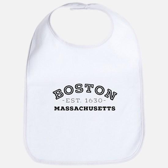Boston Massachusetts Baby Bib