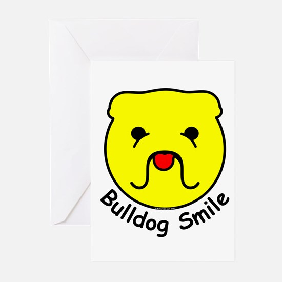 Bulldog Smile Greeting Cards (Pk of 10)