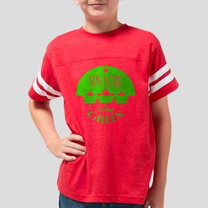 go_green_NY_d Youth Football Shirt