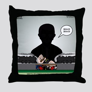 Railroading Counselor Throw Pillow
