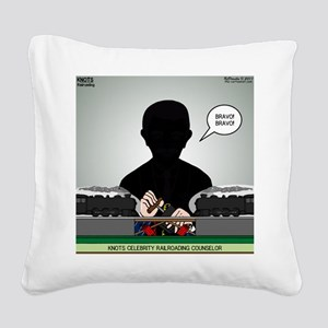 Railroading Counselor Square Canvas Pillow