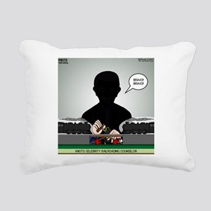 Railroading Counselor Rectangular Canvas Pillow