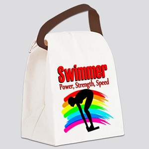 #1 SWIMMER Canvas Lunch Bag