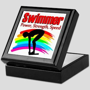 #1 SWIMMER Keepsake Box