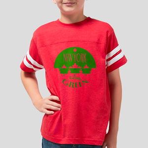 go_green_NY_J_var Youth Football Shirt