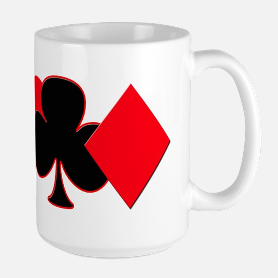 Card Suits Large Mug
