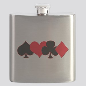 Card Suits Flask