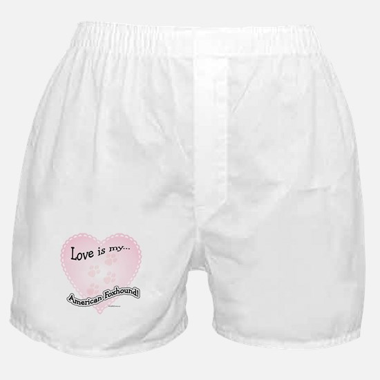 Love is my American Foxhound Boxer Shorts