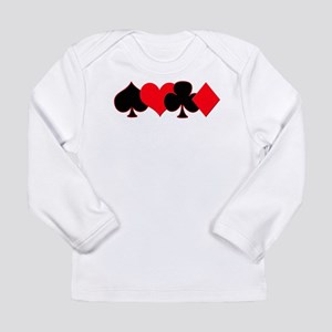 Card Suits Long Sleeve Infant T-Shirt