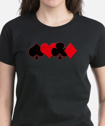 Card Suits Women's Dark T-Shirt