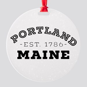 Portland Maine Round Ornament