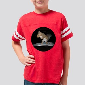 0 surfer squirrel round Youth Football Shirt
