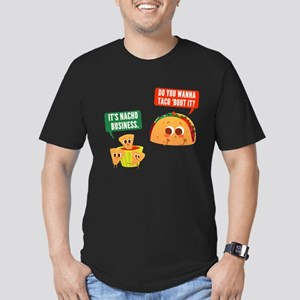 Nacho Business Pun Men's Fitted T-Shirt (dark)