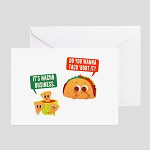 Nacho Business Pun Greeting Card