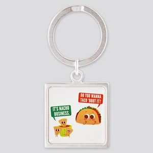 Nacho Business Pun Square Keychain