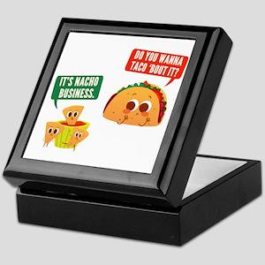 Nacho Business Pun Keepsake Box