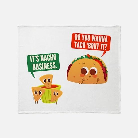 Nacho Business Pun Throw Blanket