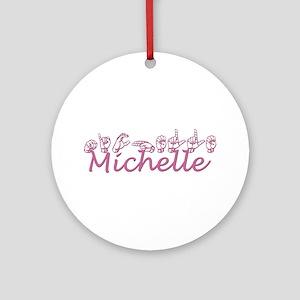 Michelle Ornament (Round)