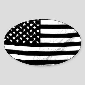 Black and White Flag Sticker