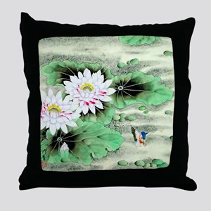 Vintage Floral Motif -Chinese Throw Pillow