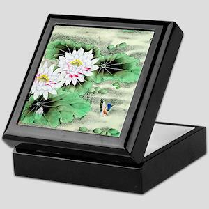 Vintage Floral Motif -Chinese Keepsake Box