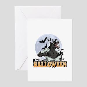 Werewolf Halloween Greeting Cards