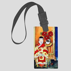 Vintage Painting -Oriental Art Large Luggage Tag