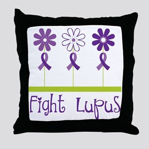 Lupus Awareness Daisy Throw Pillow