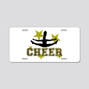 Cheerleader Gold and Black Aluminum License Plate