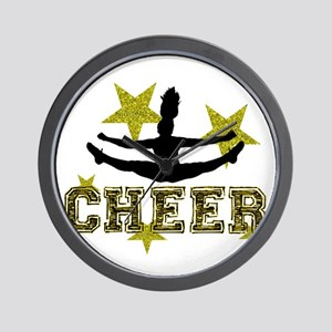 Cheerleader Gold and Black Wall Clock