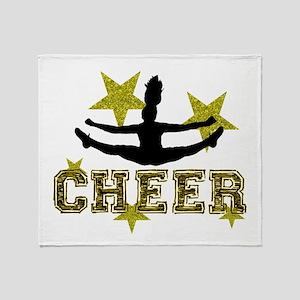 Cheerleader Gold and Black Throw Blanket
