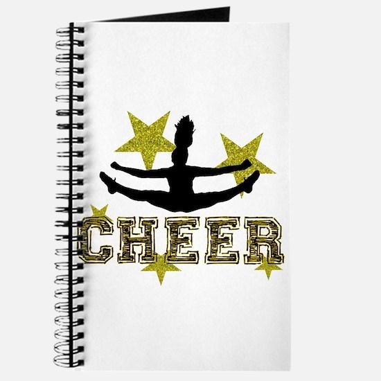 Cheerleader Gold and Black Journal