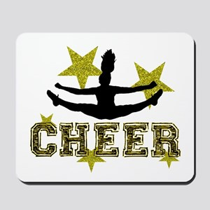 Cheerleader Gold and Black Mousepad