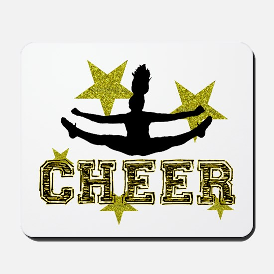 Cheerleader Gold and Black Mousepad
