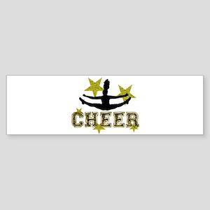 Cheerleader Gold and Black Bumper Sticker