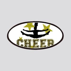 Cheerleader Gold and Black Patches