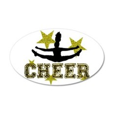 Cheerleader Gold and Black Wall Decal