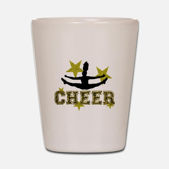 Cheerleader Gold and Black Shot Glass